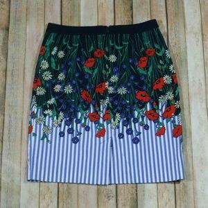 Anthropologie Skirts - Postmark Anthro Vertical Garden Pencil Skirt